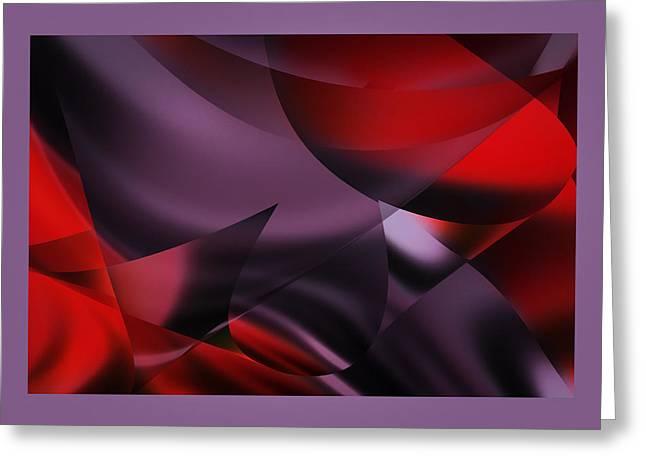 Purple Energy  Greeting Card