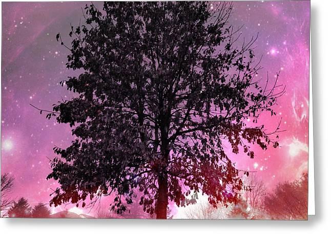 Purple Fever Greeting Card by Chris Scroggins