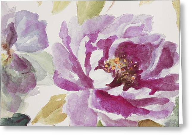 Purple Floral Delicate Greeting Card