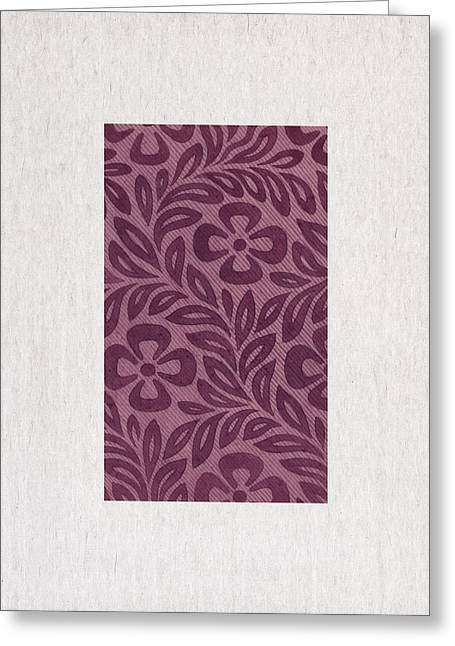 Purple Flowers Greeting Card by Aged Pixel