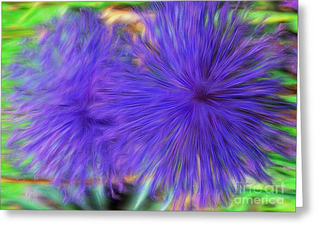 Purple Flowers Greeting Card by Kathleen Struckle