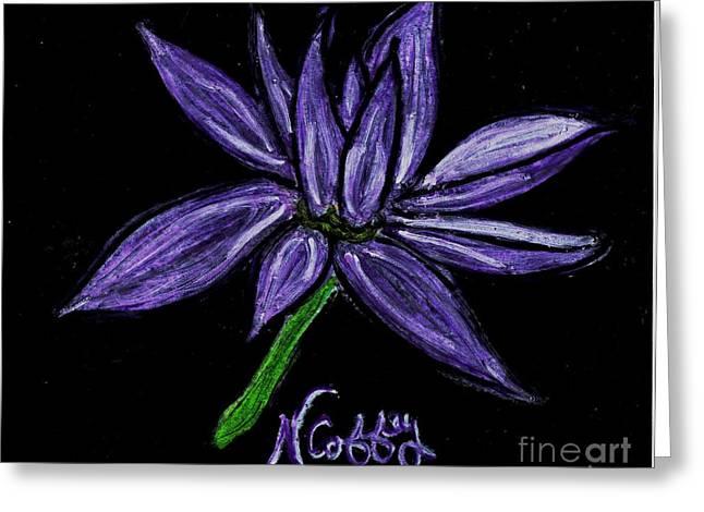 Purple Flowers Greeting Card by Neil Stuart Coffey