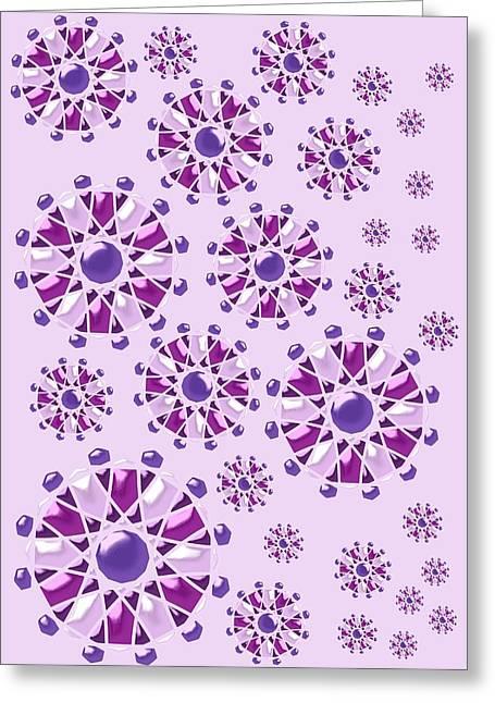 Purple Gems Greeting Card by Anastasiya Malakhova