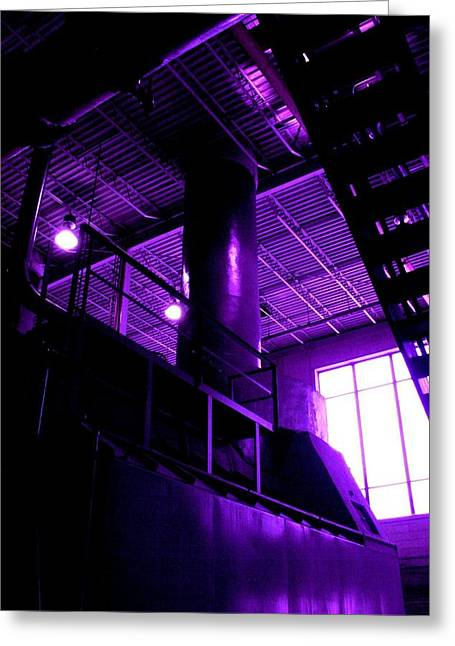Purple Generator Greeting Card