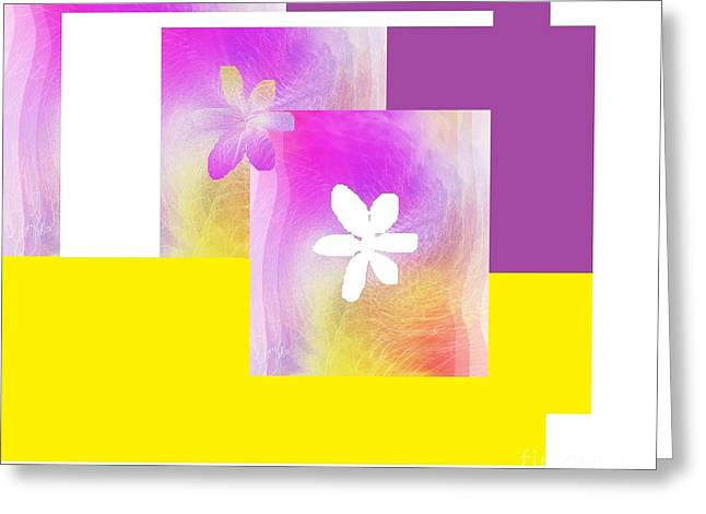 Purple Glow Flower Greeting Card