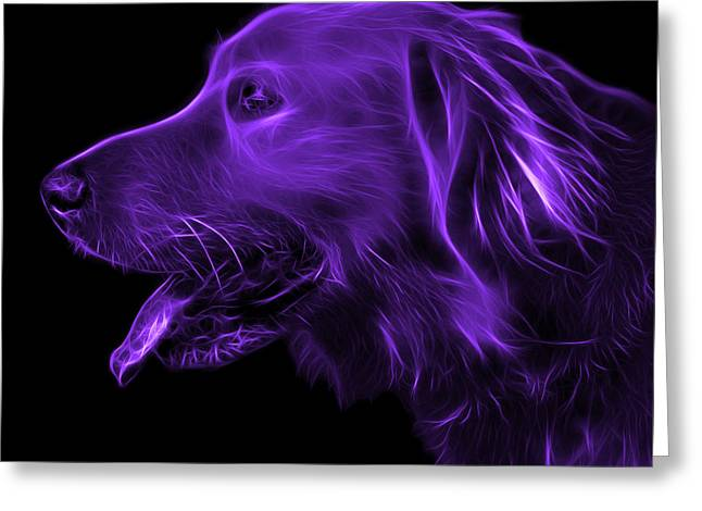 Purple Golden Retriever - 4047 F Greeting Card
