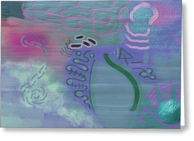 Purple Haze Between The Clouds Greeting Card by Lazaros