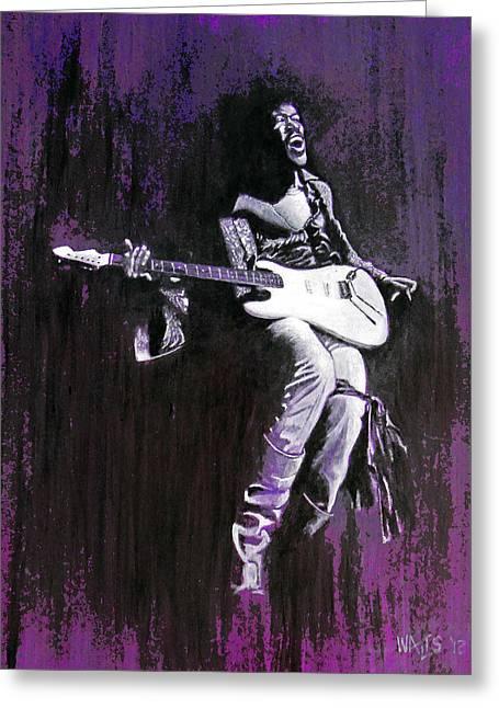 Purple Haze - Hendrix Greeting Card by William Walts