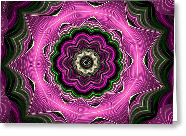 Purple Haze Kaleidoscope Greeting Card