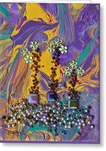 Purple Haze Pot Garden Greeting Card