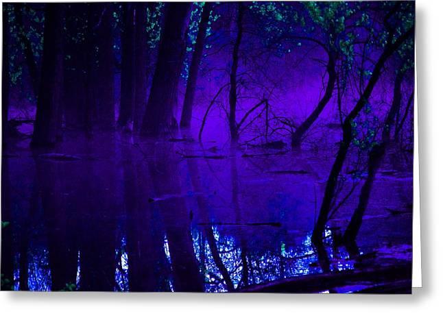 Purple Haze Greeting Card by Valarie Davis