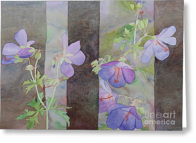Purple Ivy Geranium Greeting Card