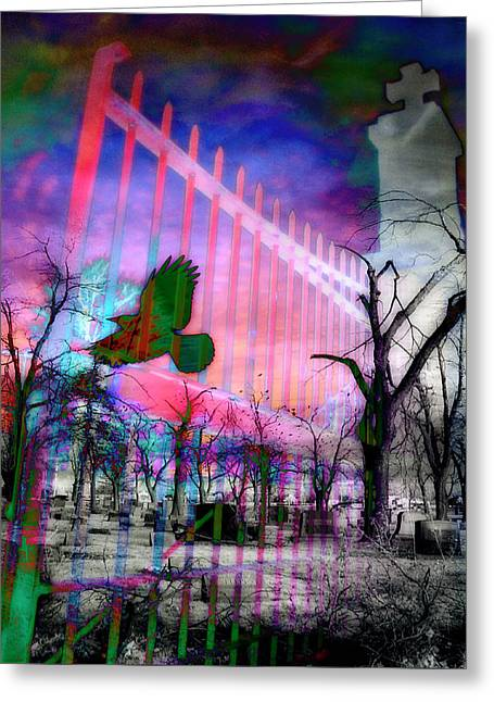 Purple Light Greeting Card by Gothicrow Images