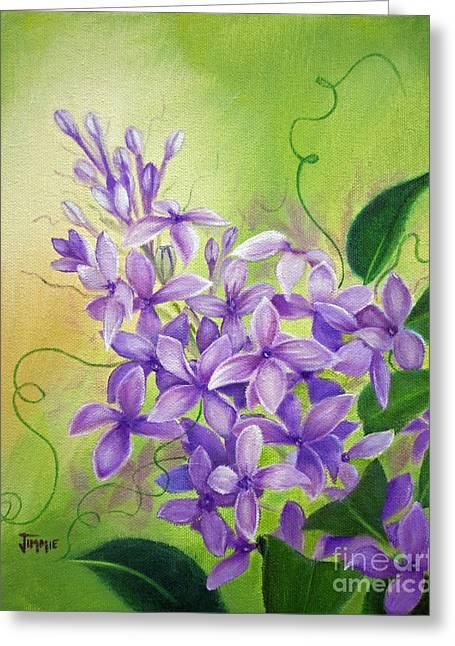 Purple Lilacs Greeting Card by Jimmie Bartlett