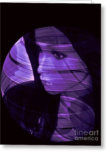 Purple Love Greeting Card