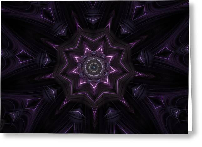 Purple Majestry Kaleidoscope Greeting Card