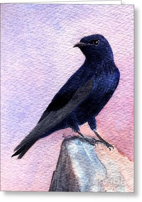 Purple Martin Greeting Card