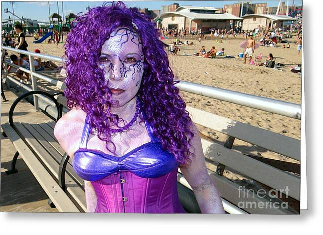 Greeting Card featuring the photograph Purple Mermaid by Ed Weidman