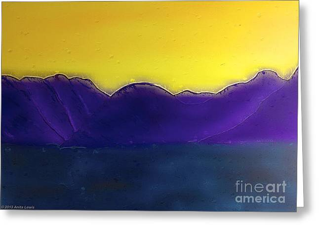 Purple Misty Mountains Greeting Card