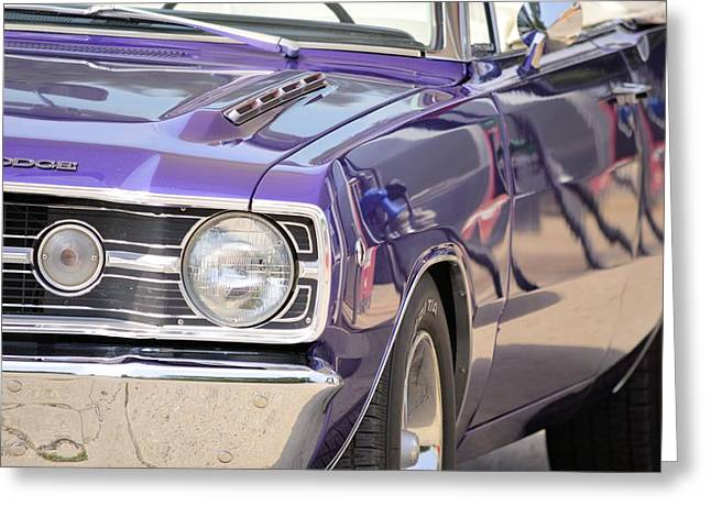 Purple Mopar Greeting Card