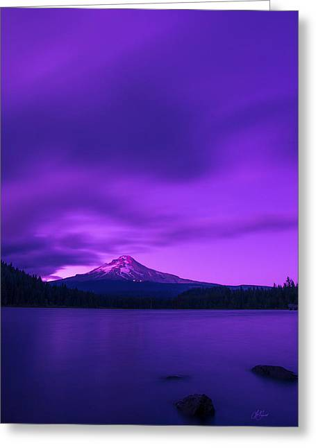Purple Mountain Majesty Greeting Card by Lori Grimmett