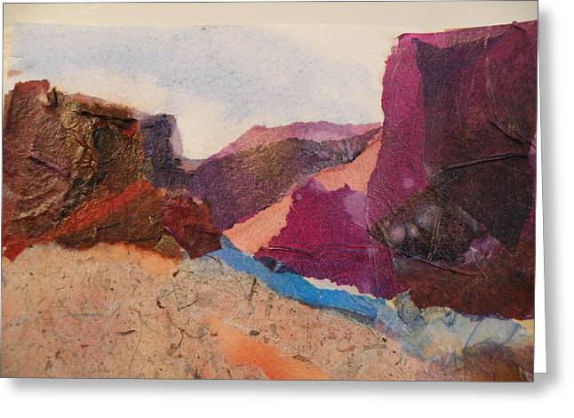 Purple Mountains Greeting Card by Lori Chase
