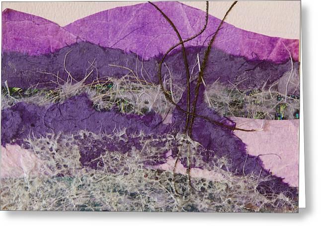 Purple Mountains Greeting Card by Pamela Ramey Tatum