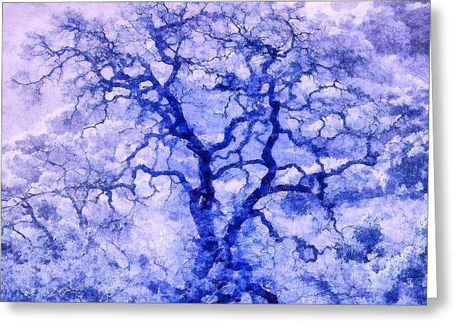 Purple Oak Tree Dream  Greeting Card
