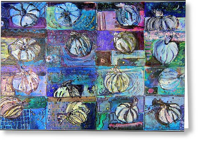 Purple Onions Greeting Card by Mindy Newman
