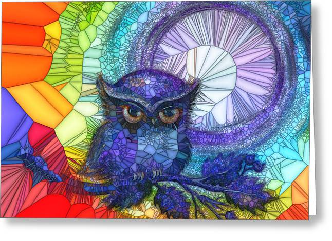 Owl Meditate Greeting Card
