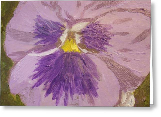 Purple Pansy 1 Greeting Card by Vicki Maheu