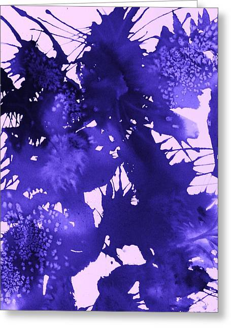 Purple Passion Greeting Card by Ellen Levinson