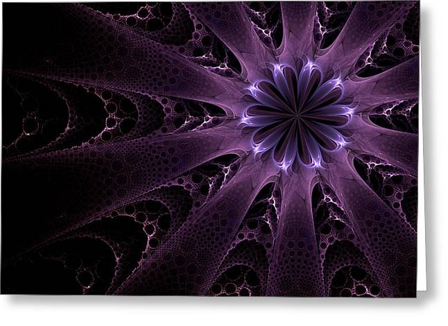 Greeting Card featuring the digital art Purple Passion by GJ Blackman