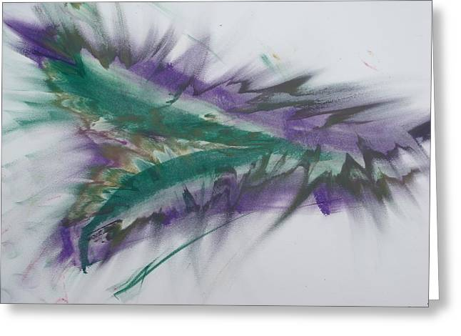 Purple Passion Greeting Card by Martin Fried MD