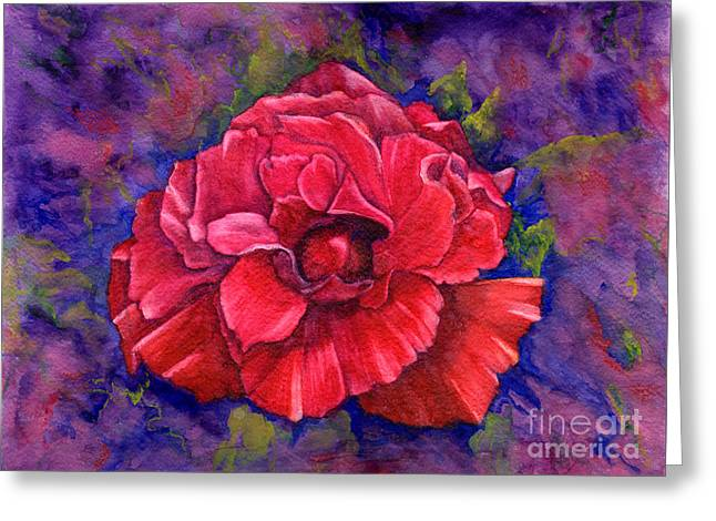Greeting Card featuring the painting Purple Passion by Nancy Cupp
