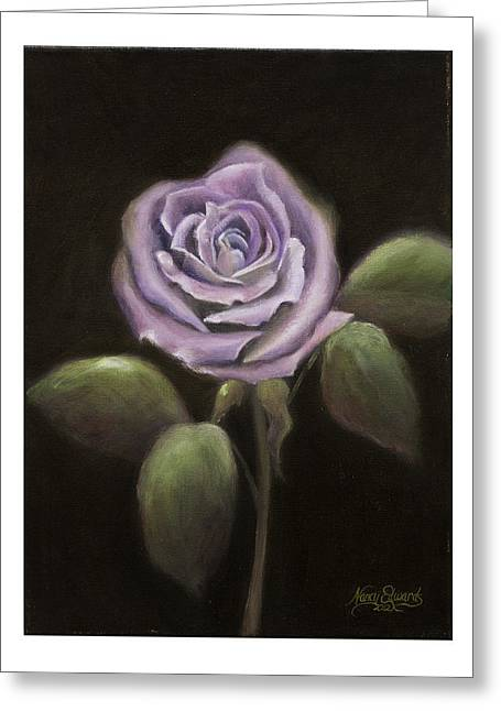 Purple Passion Greeting Card by Nancy Edwards