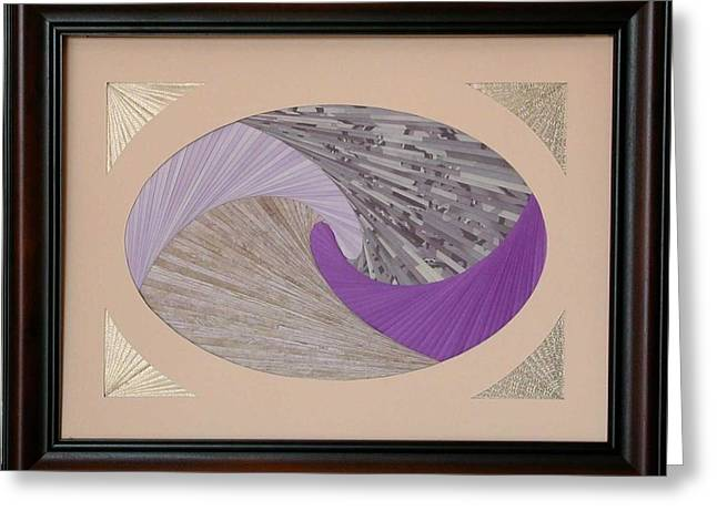 Greeting Card featuring the mixed media Purple Passion by Ron Davidson