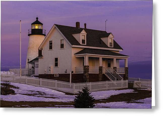 Purple Pemaquid Greeting Card