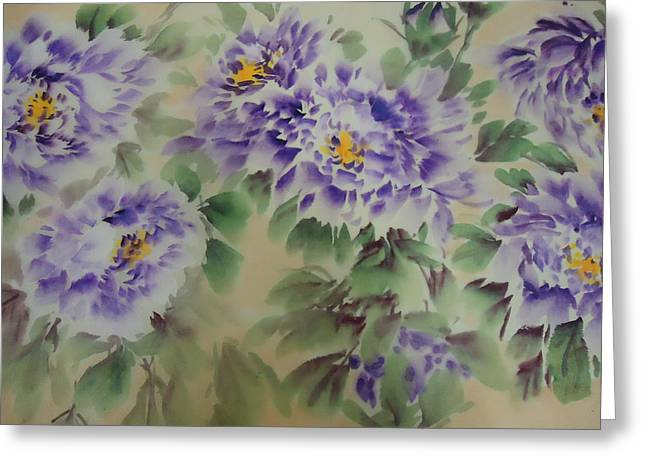 Purple Peony 012 Greeting Card