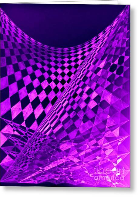 Purple Perspectives Greeting Card