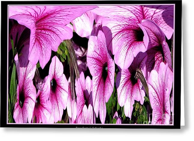Purple Petunias Abstract Greeting Card by Rose Santuci-Sofranko