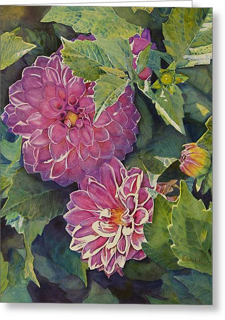 Purple Pinwheels Greeting Card