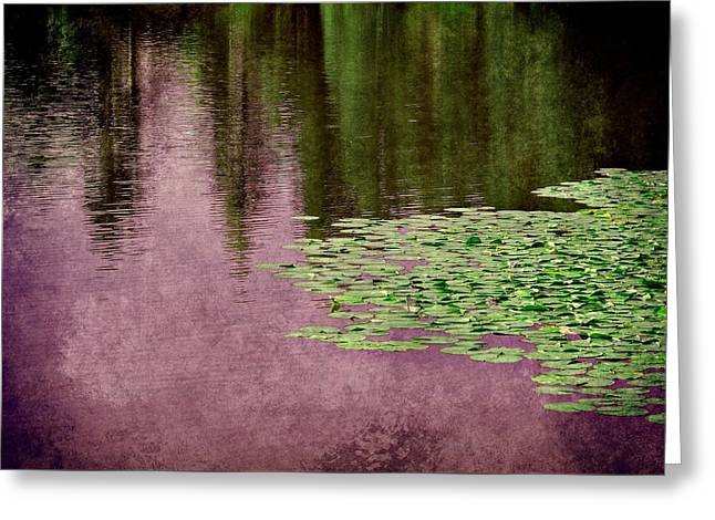 Purple Pond Reflections Greeting Card