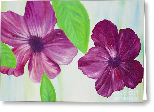 Purple Pop Flowers Greeting Card