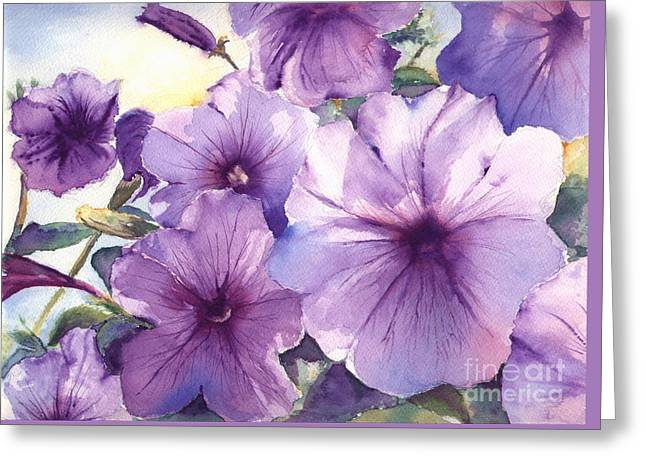Purple Profusion Greeting Card