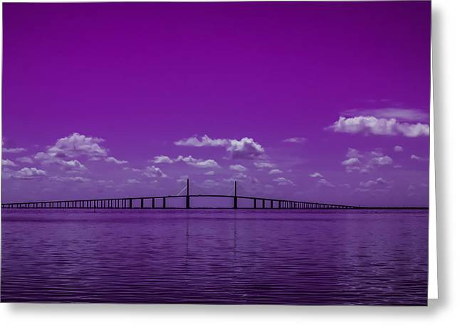 Greeting Card featuring the photograph Purple Rain by Randy Sylvia