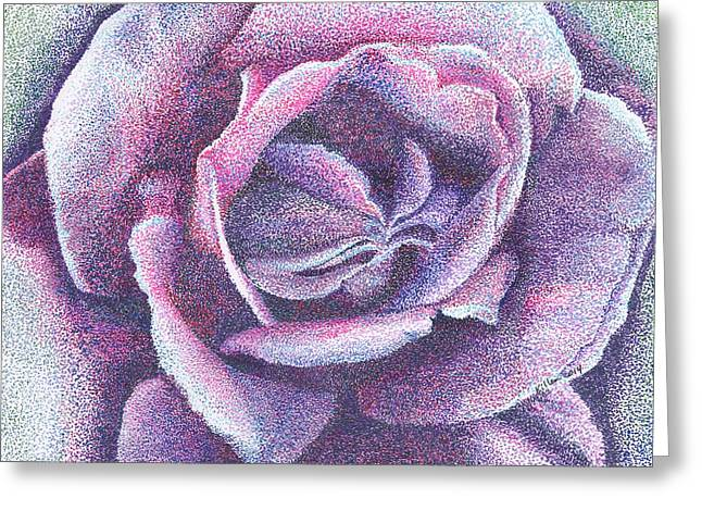 Purple Rose 2-14 Greeting Card