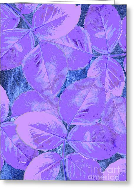 Purple Rose Clippings 2 Greeting Card