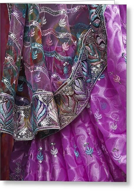 Purple Sari Greeting Card