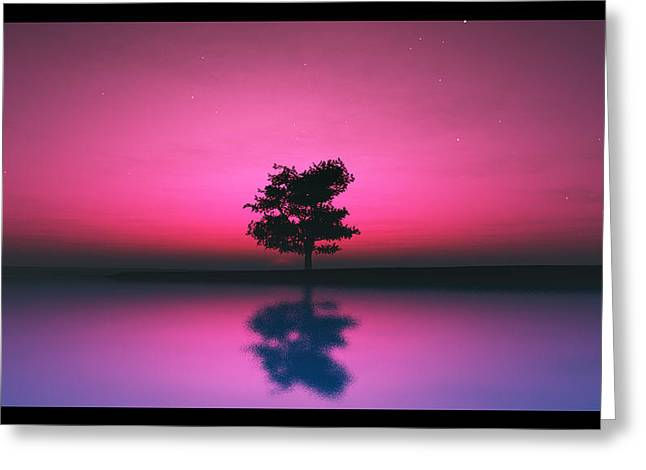 Purple Sky... Greeting Card